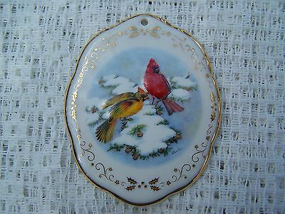 "Boehm at Home ""Northern Cardinals in Winter"" Christmas 2003 Ornament."