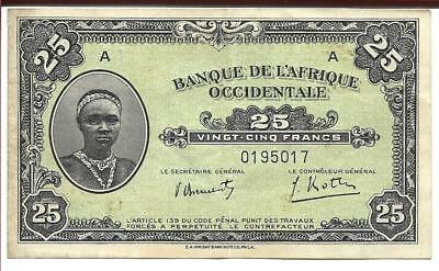 Bank of West Africa Circulated Paper Money 1942 Wright Bank Note Co. Philadelpha