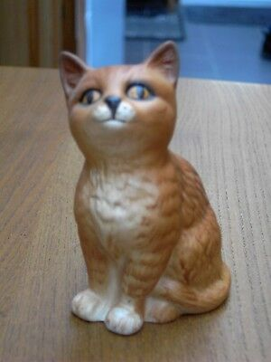 Beswick Ginger Seated  Kitten (1886) Matt Finish In  V.G.C. Free UK Postage