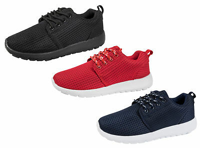 Mens Boys Lightweight Mesh Trainers Sports Breathable Lace Up Running Shoes Size