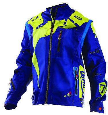 Leatt GPX 4.5 X-Flow MX Offroad Jacket Blue/Lime Green