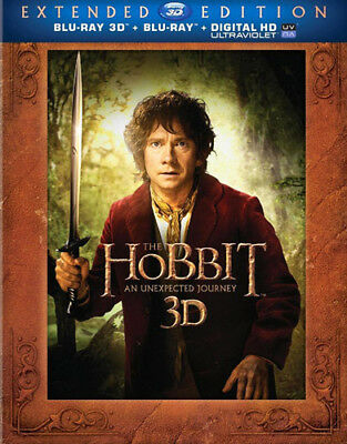 The Hobbit: An Unexpected Journey (5 Disc, + Blu-ray, Extended) 3D BLU-RAY NEW