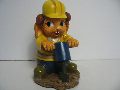 New Mac, Construction worker with Jackhammer Pendelfin figurines New in Box
