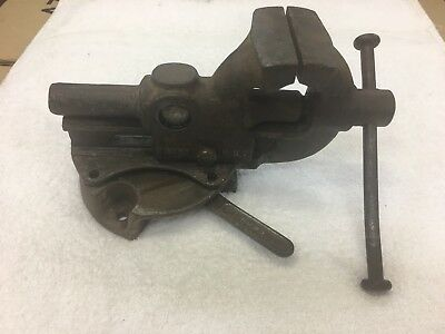 """Vintage HEUER German Rotating Bench Vise Approx 2.92""""(74mm)"""