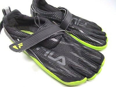 865d85bc15a2 SKELE-TOES FILA EZ Slide Mens Shoes Size 8 Running Water Boat Black Green