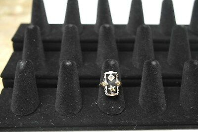 Order of the Eastern Star Ladies 14K White Gold Ring Sz 6.5