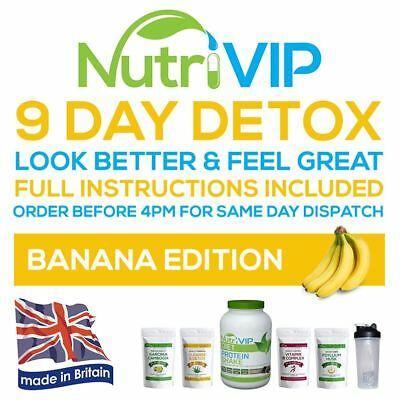 9 Day Detox Weight Loss Package - [ Banana ] - [ FREE Microfibre Sports Towel ]