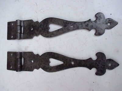 Furniture Salvage Antique Pair Iron Door Rustic Furniture Cabinet Hinges