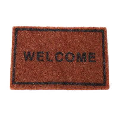 1/12 Scale Brown ''Welcome'' Floor Rug Cover Dollhouse Miniature Decoration