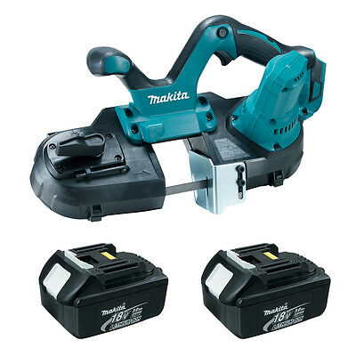 Makita XBP01Z 18-Volt LXT Cordless Portable Band Saw (2) 3.0 Ah BL1830 Batteries