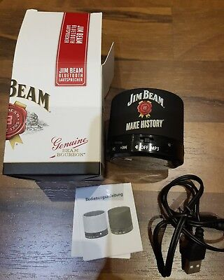 Jim Beam Whisky, Bluetooth Akku Speaker, Mp3 Lautsprecher Aux 3 Watt NEU&OVP