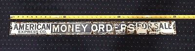 Original 1910's American Express Co. Money Orders for Sale Here Porcelain Sign