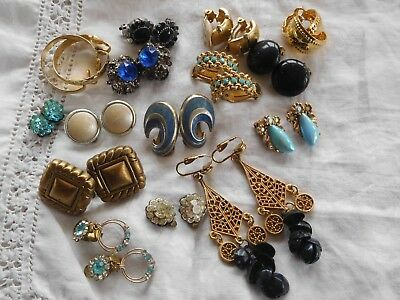 Lovely Mixed Job Lot of Vintage 1950s/60s/70s Clip On Earrings