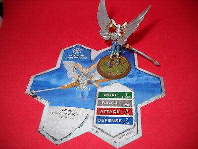 Heroscape: Rise of the Valkyrie: Raelin the Kyrie Warrior: Valhalla:  with card