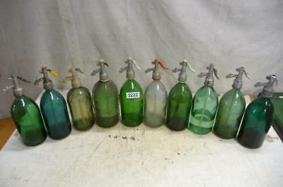 3222. 10 alte Sodaflaschen Siphonflasche Old soda siphon seltzer
