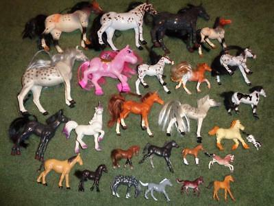 Lot All Sizes Stable  Horses Kid Kore And Unmarked Includes A Pink Glitter Pony