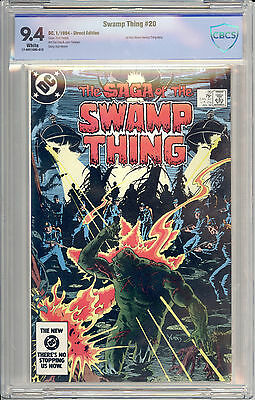 Saga of the Swamp Thing #20 (DC 1984) CBCS 9.4 1st Alan Moore Swamp Thing Story