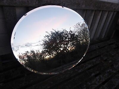 Vintage Art Deco 1930's Frameless Bevel Edge Oval 53cm Mirror