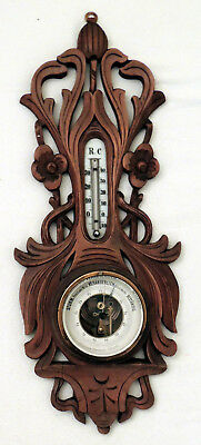 Wetterstation - Antiker Barometer / Thermometer ca .1900+
