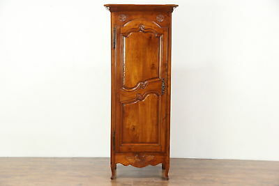 Country French 1800 Antique Small Fruitwood Armoire, Wardrobe or Closet