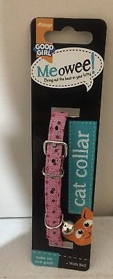 CAT COLLAR with Bell  NEW Free Postage - Pink Dots * SALE *