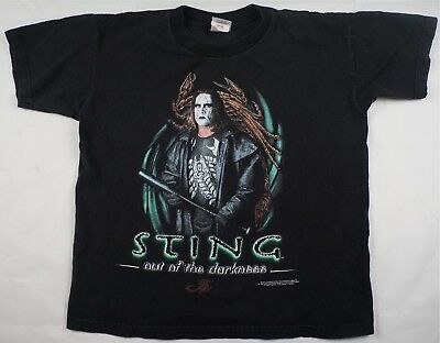 Rare Vintage WCW Sting Out Of The Darkness Wrestling NWO Shirt 90s Kids SZ Large
