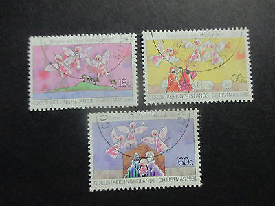 -1981  Cocos   Island-Christmas  Issues   -- 3   Stamps  --Cto --A1