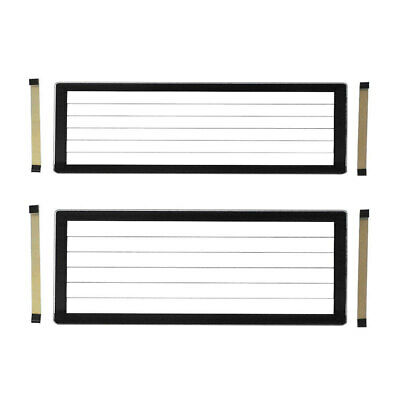 Number Plate Covers Slimline & Standard Black Lined One Pair QLD VIC SA WA TAS