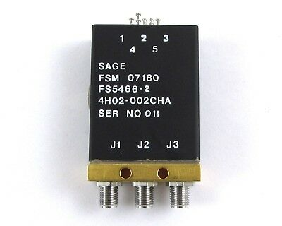 Sage Labs FS5466-2 RF Switch SMA(F) Connector