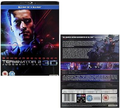 TERMINATOR 2 (1991) THE: JUDGMENT DAY 2017 RESTORATION T-800 v T-1000 3D BLU-RAY