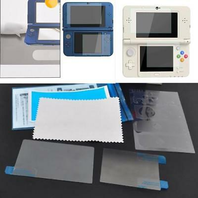 Top Tempered Glass Film & Bottom Screen Protector for NEW Nintendo 3DS LL XL HOT