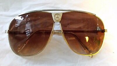 Vintage Mercedes Benz Sunglasses Gold Color Frames
