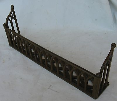 ANTIQUE VICTORIAN CHURCH PEW HYMNAL BIBLE HOLDER RACK 1870's CAST IRON GOTHIC #1
