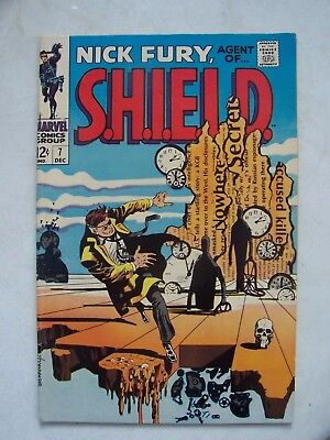 NICK FURY AGENT OF SHIELD #7 F/VF+    STERANKO cover