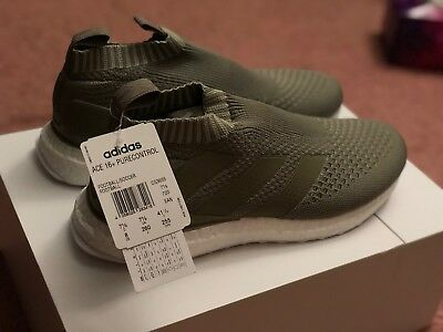 new style 4c82d ee3ba Adidas Ace 16+ Purecontrol Ultra Boost Clay Olive CG3655 Sz 8 IN HAND