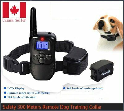 100LV LCD ELECTRIC SHOCK E-COLLAR REMOTE DOG TRAINING ANTI-BARK + Battery Canada