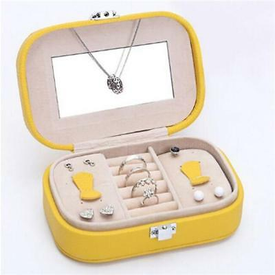 Travel Portable Jewelry Box Ring Necklace Display Earring Case Organizer JJ