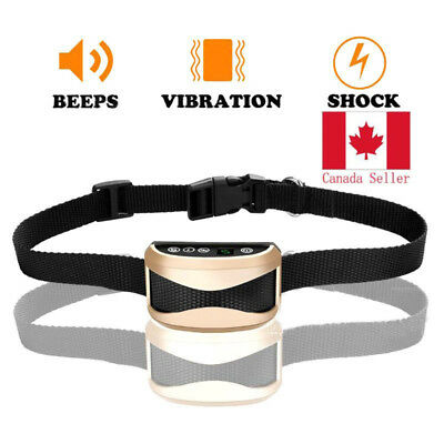 Waterproof Rechargeable No Bark Collar Anti-Bark Dog Training Collar Control Ca