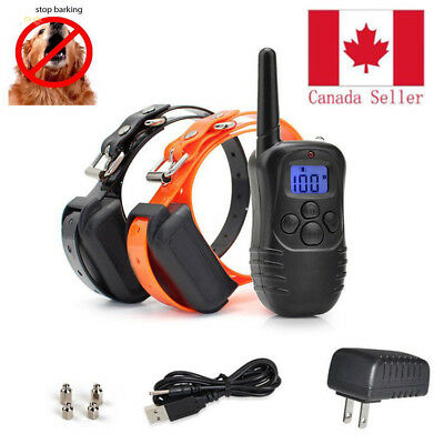 Waterproof Rechargeable LCD Electric Remote Dog Training Shock Collar US PLUG 2