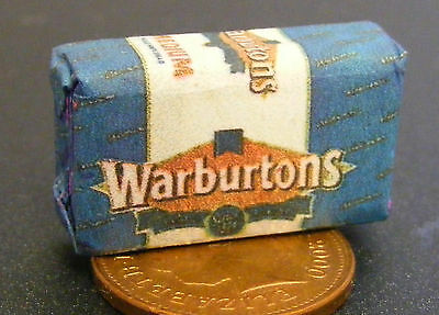 1:12 Scale Sliced Loaf Wrapper Dolls House Miniature Kitchen Bread Accessory W