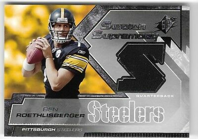 36b386f24 Ben Roethlisberger 05 Ud Spx Swatch Supremacy Rookie Steelers Rc Jersey  Card!