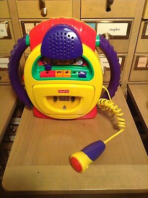 Fisher Price Tuff Stuff Voice Warp Cassette Player Recorder Microphone Fun!