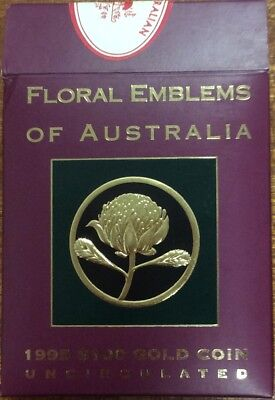 1995  $100 Gold coin - floral emblems of Australia