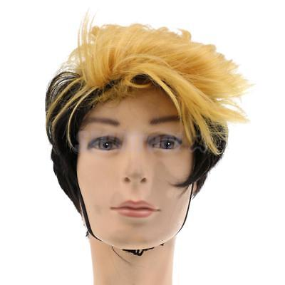 """7"""" Short Straight Wig Heat Resistant Synthetic Full Wig for Party Cosplay"""