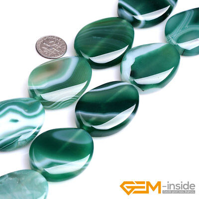 Natural Green Sardonyx Agate Gemstone Spacer Loose Beads For Jewelry Making 15""