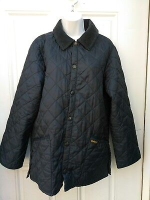 Men's Barbour Navy Blue Liddesdale Quilted Jacket Coat-Ex Small
