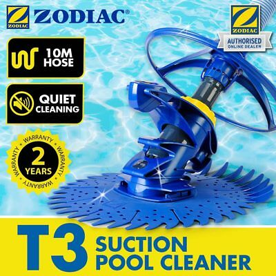 NEW ZODIAC T3 Vacuum Pool Cleaner Suction Swimming Baracuda Automatic 10m Hose