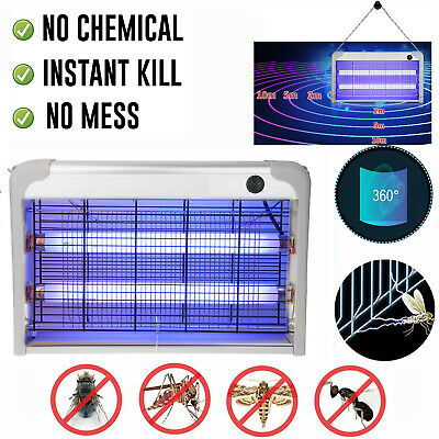 Electric Mosquito Fly Bug Insect Zapper Killer Catcher Lamp Light Aluminum Alloy