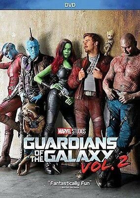 Guardians of the Galaxy Vol. 2 DVD Factory Sealed New Chris Pratt Free Shipping