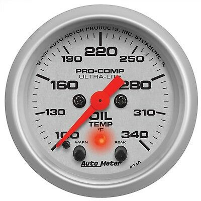 AutoMeter 4340 Ultra-Lite Electric Oil Temperature Gauge